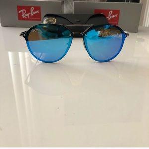 Ray-Ban Blaze Blue Lens Double Bridge